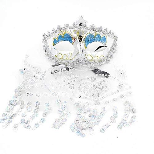 Halloween Cosplay Frauen Ultraleicht Pailletten Spitze Venezianischen Masken Venedig Prinzessin Maske Party Gaze Maske Halbes Gesicht Bauchtanz Knospe Seide Augenmaske