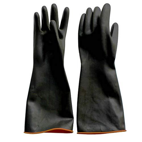 Naturgummilatex Handschuh Anelku Industrie Anti Chemische Säure Alkali Gummihandschuhe 45cm-18inch