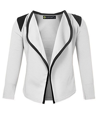 2775 White 7-8 Y Girls Blazer Jacket