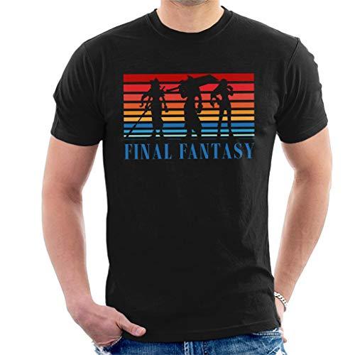 Final Fantasy Colourblock Silhouette Men's T-Shirt