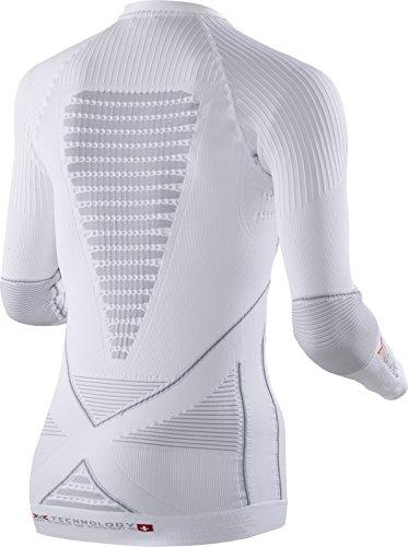 X-Bionic Eacc.Evo - Maglia intima da donna, manica lunga Bianco/Pearl Grey