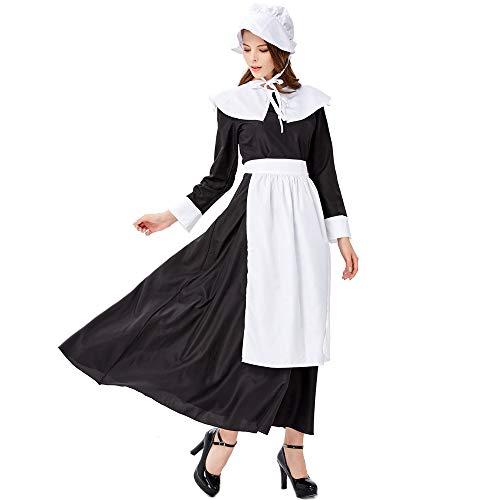 Miss Y Halloween Renaissance Country Style Kostüm Cosplay Maid Spiel Drama Beer Festival Dress Up Kostüm,L (Country Girl Kostüm Frauen)