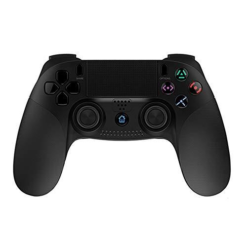 TOONEV Kabelloser Controller für PS4, kabelloser Spiele-Controller mit Dual-Vibration Gamepad Joystick für Playstation 4/PS3/Windows PC (schwarz)