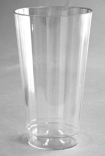 CLASSIC CRYSTAL 16 OZ. PLASTIC FLUTED TUMBLER CUPS WNA 240CS 12/20 by WNA Fluted Crystal