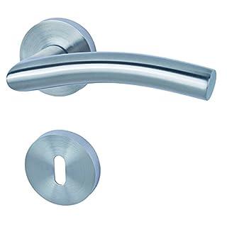 Alpertec Edelstahl Peking II - R für Zimmertüren Drückergarnitur Türdrücker Türbeschläge, 88020600