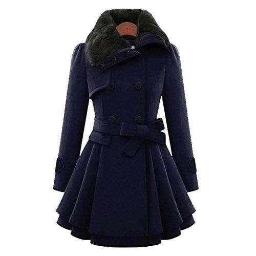 Preisvergleich Produktbild Kobay Frauen Warme Dünne Mantel Jacke Dicke Parka Mantel Lange Winter Outwear