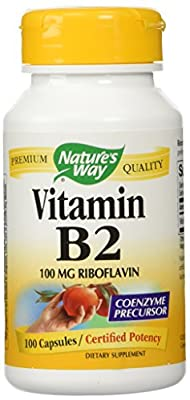 Nature'S Way Vitamin B2, 100 Capsules (Pack Of 2) from Nature's Way