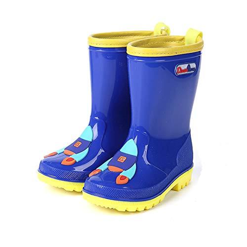 Unisex Kids Waterproof Boots Childrens Boys Girls Cute Cartoon Planet Pattern Wellies Wellingtons Rain Boots