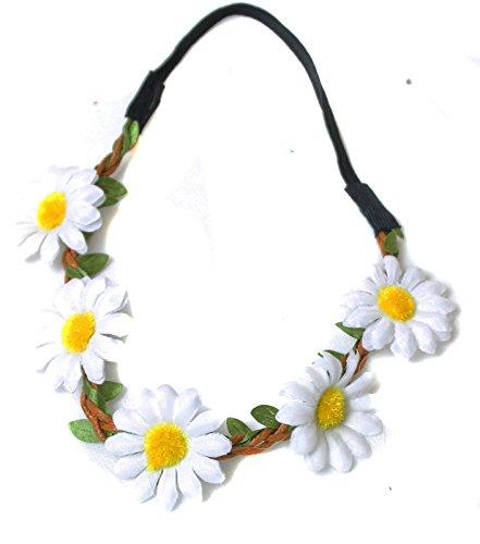 white-daisy-garland-hairband-headband-christening-festival-elastic-flower-hair-girls-children