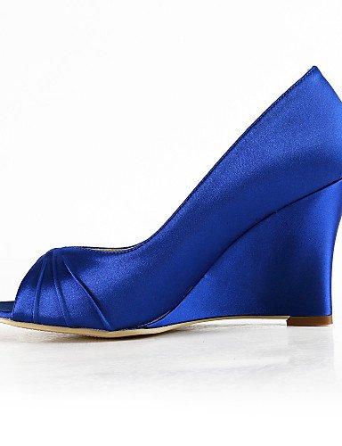 WSS 2016 Chaussures de mariage-Noir / Bleu / Jaune / Rose / Violet / Rouge / Blanc / Argent / Or / Beige / Amande-Mariage / Habillé / Soirée & 3in-3 3/4in-purple
