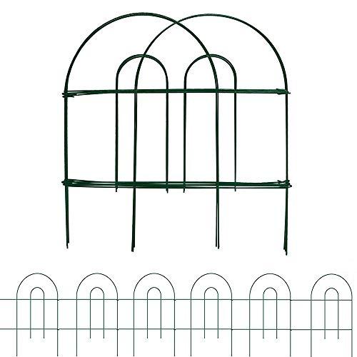 Amagabeli Garden Home 46CM X 15.2M Valla Jardín de Hierro - Set de 35 - Valla Decorativa Metalicas para Jardín Metal Verde
