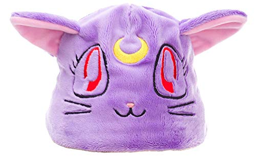 Chong Seng CHIUS Cosplay Costume Accessory Black Cat Luna Purple Plushy Hat