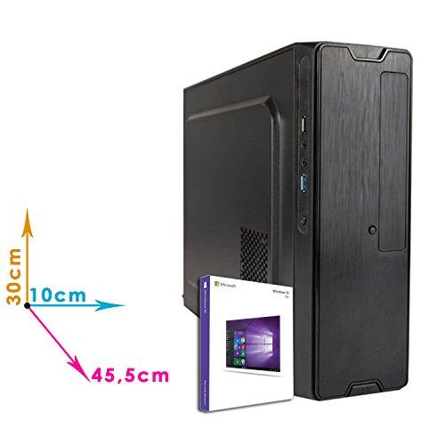 MINI PC DESKTOP COMPUTER FISSOLICENZA WINDOWS 10 PROASSEMBLATO COMPLETO Intel QUAD-CORE fino a 2.3 GHZRAM 8GBHD 1TBMASTERIZZATOREWIFI200WDILC MICRO