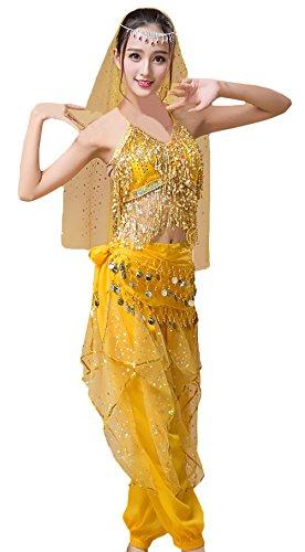 Faschingskostüme Erwachsene Damen Darstellende Künste Indisch Performance-Kleidung Bauchtanz -