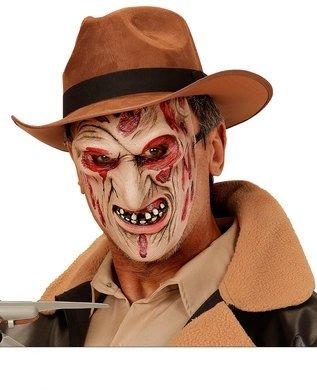 Widmann 00353A halbe Gesicht Maske Mörder Verbrennungen, in Einheitsgröße (Kind Krueger Freddy Kostüme)