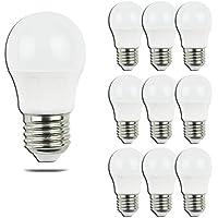 Aigostar - Bombilla LED A5 G45, E27, 5 W equivalente a 40 W, 400lm, Luz calida 3000K, no regulable - Pack de 10[Clase de eficiencia energética A+]