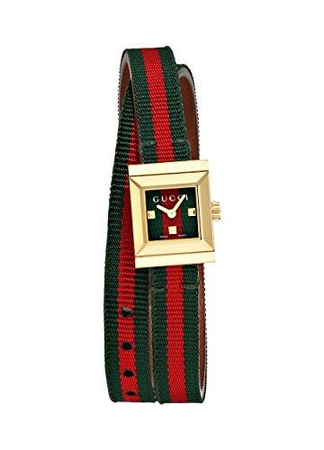 Gucci donna-Orologio da polso al quarzo in tessuto G - Frame YA128527