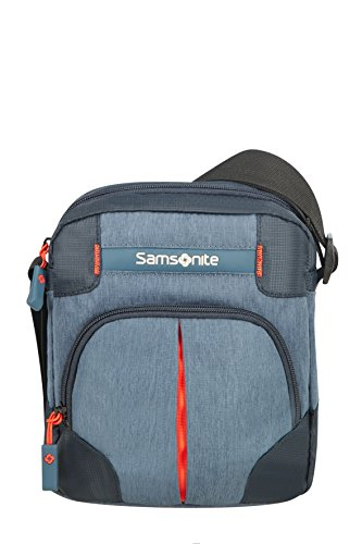 Samsonite Rewind, Bolso Bandolera, 23 cm, Azul (Storm Blue)