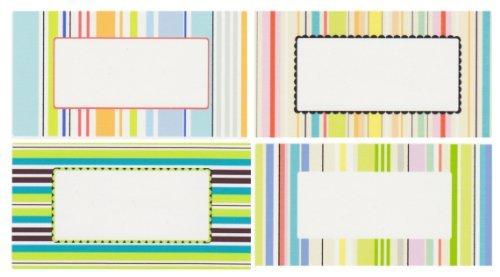 Nutley's Stripey Set di 96 etichette per barattoli, 4 modelli differenti