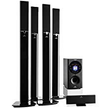 "auna Areal 653 • Sistema sonido envolvente 5.1 • Home Cinema • Surround • 145 W RMS • Subwoofer emisión lateral 6,5"" • Bass Reflex • 5 altavoces satélite • AUX • Tarjeta SD • Bluetooth • USB • Negro"