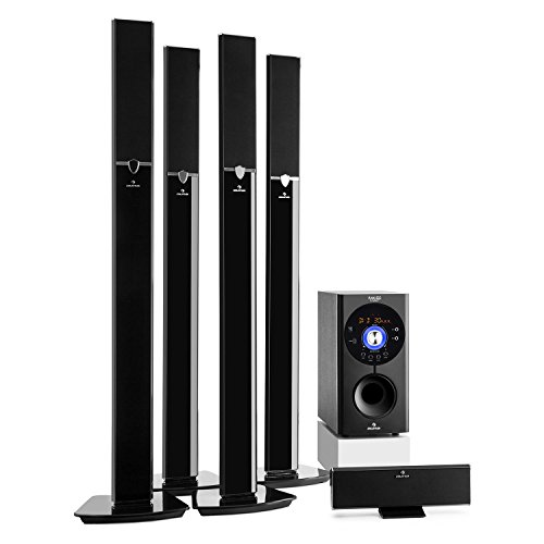 auna Areal 653 Surround Sound System 5.1-Kanal Heimkinosystem Lautsprechersystem (145 Watt RMS, 16,5 cm (6,5