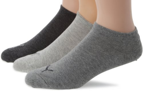 Puma Unisex Sportsocken Invisible 3er Pack, anthraci/l mel grey/m mel grey, 35-38, 251025
