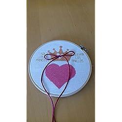 Bastidor porta alianzas corazón, para llevar los anillos boda