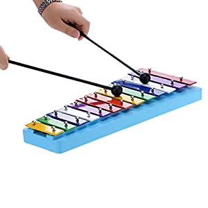 Andoer® 13 Bar Kid's Glockenspiel Xylophone Colorful Note of Educational Percussion Instrument Rhythm Toy for Baby Toddler Children
