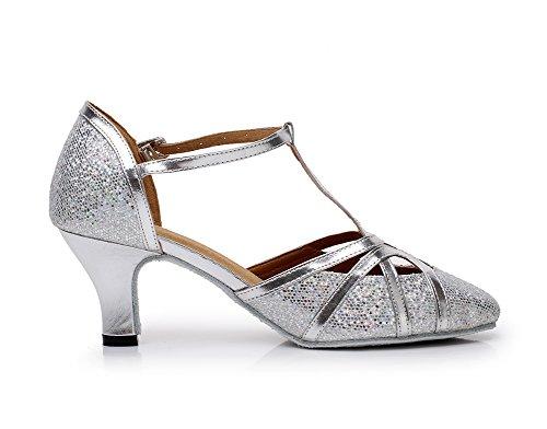 Minitoo , Damen Tanzschuhe, Silber – silber – Größe: 37.5 - 5