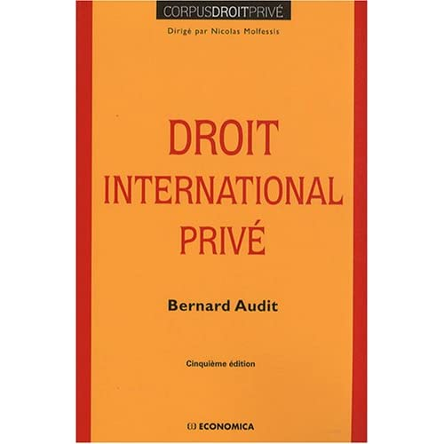 Droit International Prive, 5e ed