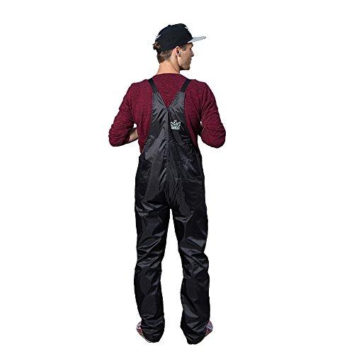 Festival Ausrüstung Gadget Kleidung Hose Unisex Partyhose Gartenhose Latzhose Selbstdesignen Wasserabweisend Rubberbüx (XL, schwarz)