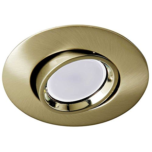 Wonderlamp Foco empotrable techo ROUND II color oro viejo (Ojo de buey...