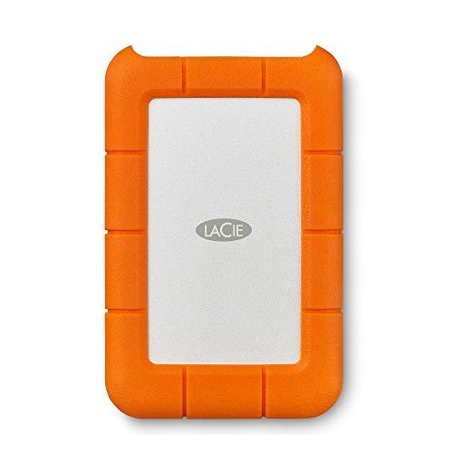 """LaCie STFR4000800 4 TB Rugged Mini USB 3.1 (USB-C + USB 3.0) 2.5"""" Portable, Disque dur externe résistant aux chocs, chutes, pression pour PC et Mac"""