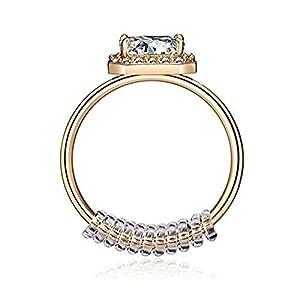 Beydodo Herren Damen PVC Ringgrößenmesser Ring Sizer Perfekt für lose Ringe Adjuster Ringgröße Klar Breite 3 MM
