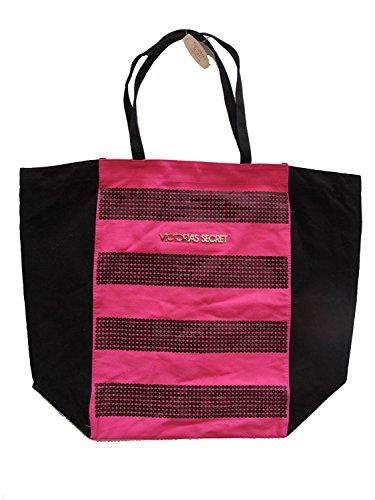 Victoria Secret `Pink Shopper Bag Tote Tasche Umhaengetasche Pailetten Neu -