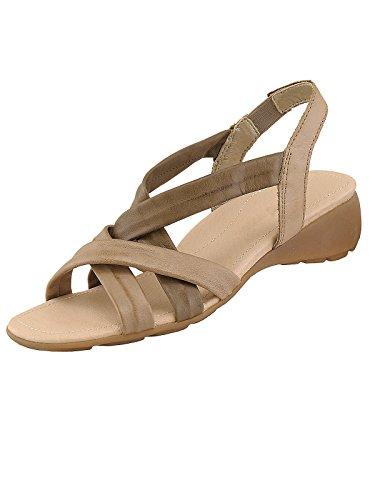 Remonte Damen R5254 Glattleder Modische Sandale Sand