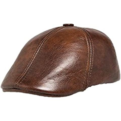 WE&ZHE High quality Golf hat Baseball Cap Hunting Hats Ear Flaps faux leather Sun visor Vintage Style Fashion Tide Outdoor For men and women , khaki 2xl