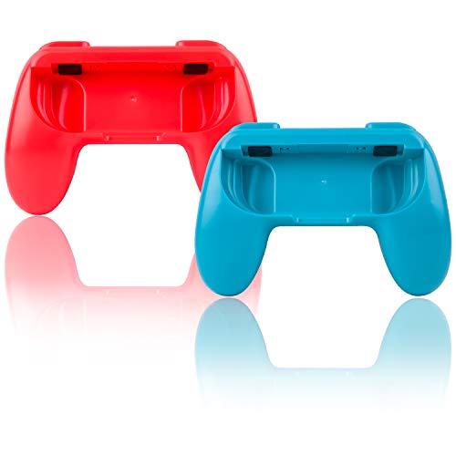 TechKen 2er Joy ConController Joy-Con Griffe Grips für Nintendo Switch,Gamepad Griff Joy-Con Zubehör Joycon Schutz Grip Hülle Verschleißfest Komfort Spiel Fernbedienung Joycon Controller Case Kit