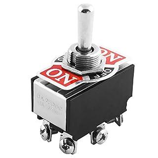 Leistungskippschalter mit Metallhebel ON-Off-ON / 10A bei 125V AC / 6A bei 250V AC