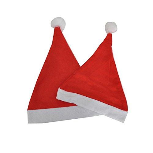 OHQ 5PCS fête de Noël Chapeau de Père Noël rouge et bleu Cap pour le Père Noël Costume Nouveau