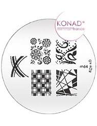Plaque disque motifs M64 Konad stamping nail art