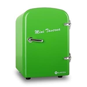 Klarstein Bella Taverna Mini Kühlschrank Getränkekühlschrank Warmhaltebox (4 Liter, Tragegriff, Netz- oder via 12 V-Betrieb, Regaleinschub) grün