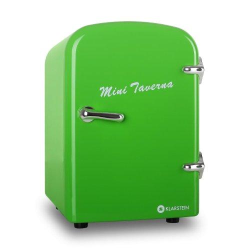 Preisvergleich Produktbild Klarstein Bella Taverna Mini Kühlschrank Getränkekühlschrank Warmhaltebox (4 Liter, Tragegriff, Netz- oder via 12 V-Betrieb, Regaleinschub) grün