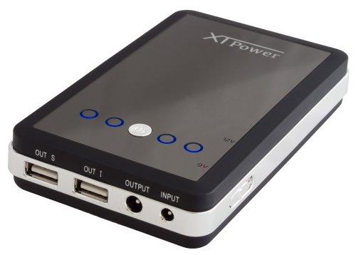 XTPower® MP-10000 Powerbank - mobiler externer USB Akku Ladegerät mit 10000mAh - 2 USB 5V 2.1A und 1x DC 9V/12V + KFZ Ladeadapter