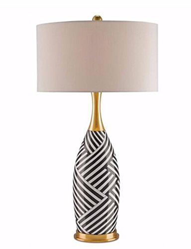 CJSHV-Lujo americano Zebra Gold lámpara de cerámica, suave ropa de diseñador dormitorio Lampara de salon, habitacion de hotel Art Lamp