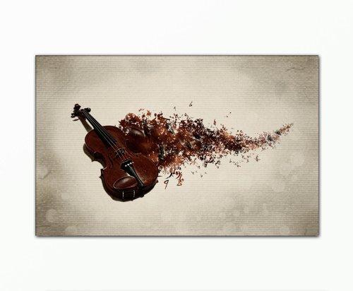 SENSATIONSPREIS-Bild-auf-Leinwand-modern-Art-Design-violinsound-70x110cm-Kunstdruck-auf-Rahmen-mit-Bilder-Motiv-Musik-Violine-Instrumente-abstrakt-modern--Schnppchen-ideal-als-Geschenk-fr-Familie-Freu
