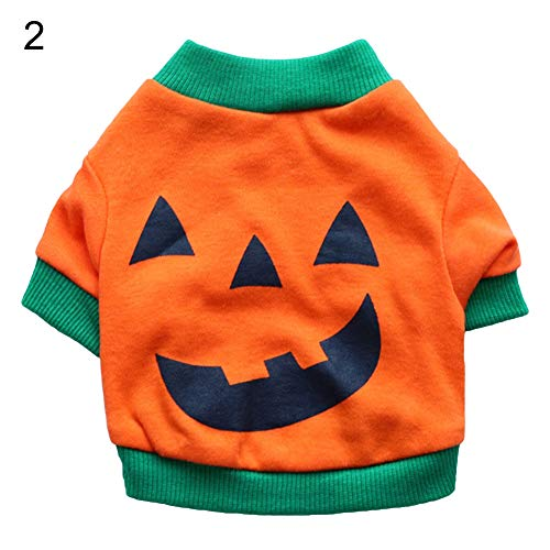 Kids Face Zwei Kostüm - Cossll498 Halloween Pet Dog Puppy Laugh Face Costume Bulldog Cotton Vest T-Shirt Clothes - 2# L