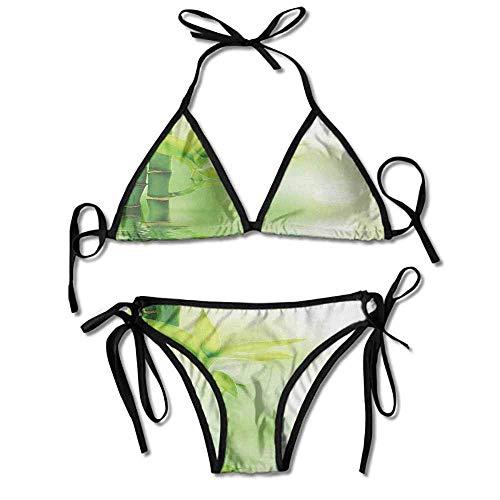 Removable Strap Wrap Bikini,Bamboo Sticking Out of Sexy Bikini 2 Pieces -
