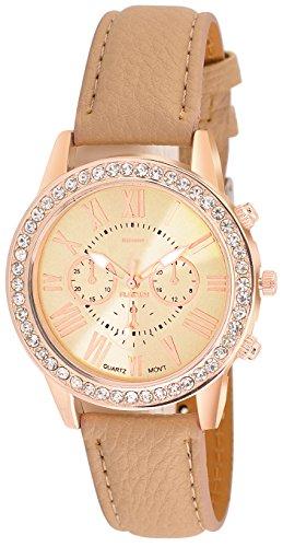 Kitcone Jwellery Bracelet Diamond Studded Multi - Colour Dial Women\'s Watch -Type -8