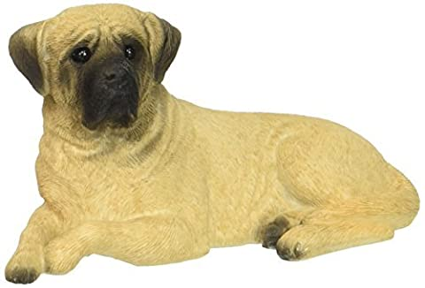 Sandicast Small Size Fawn Mastiff Sculpture, Lying by Sandicast